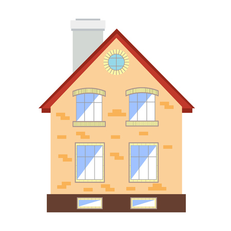 small house: Small house on white background flat
