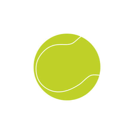 tennisball: Tennis ball on white background. Picture style flat Illustration