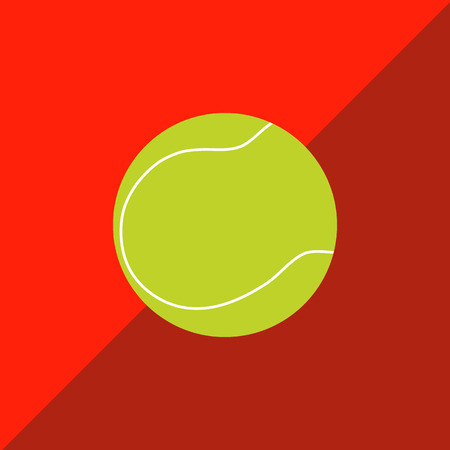 tennisball: Tennis ball on a two-tone background. Picture style flat