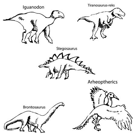 Dinosaurios Con Nombres Dibujo A Lapiz Con La Mano Colores De La Vendimia Imagen Del Vector Ilustraciones Vectoriales Clip Art Vectorizado Libre De Derechos Image 67876241 Te puse una imagen de un dinosaurio como si fuese la portada del. dinosaurios con nombres dibujo a lapiz