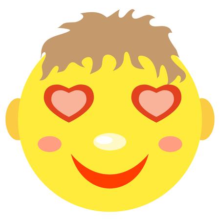 愛の笑顔の少年。