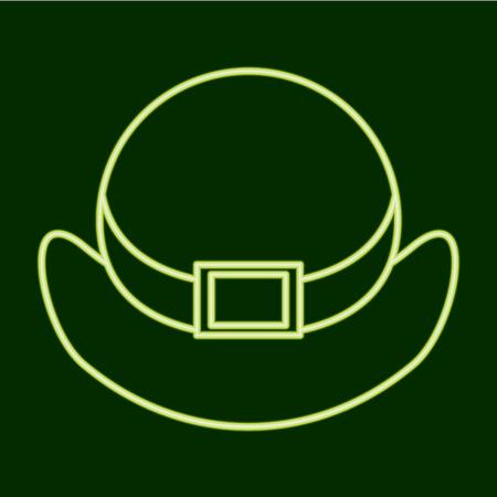 Hat. St. Patrick s Day, flat simple design illustration