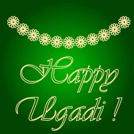Icons of garlands of flowers. Holiday Ugadi. Fine lines. Neon icon. Neon sign. Effect of neon glow. Vector Image. Illustration