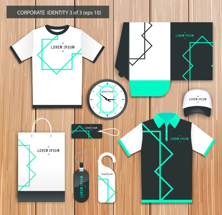 t square: Vector artistic corporate identity template with color elements.