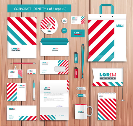 poster concepts: Vector artistic corporate identity template with color elements.