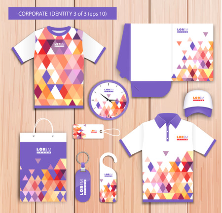 sport clothes: Vector artistic corporate identity template with color elements.