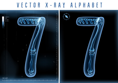 x ray image: 3D X-ray transparent alphabet