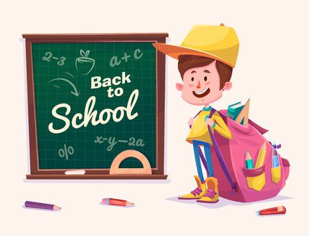 school activities: Cute School Children. School activities. Back to School isolated objects on white background. Great illustration for a school books and more.