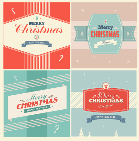 label frame: Vintage Christmas Elements Background With Typography