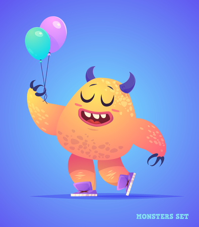 Big collection of cute monsters. Halloween character. illustrations. Good for book illustration, magazine prints or journal article.