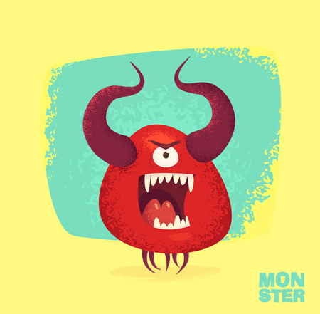 of helloween: Big collection of cute monsters. Halloween character. illustrations. Good for book illustration, magazine prints or journal article.