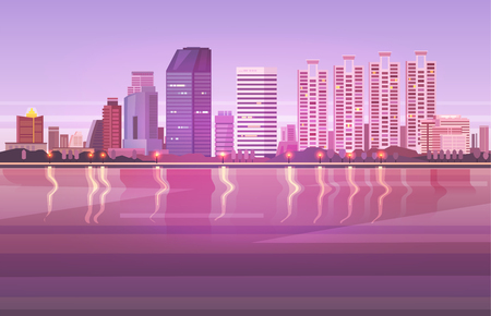 Vector illustration. Thailand. Travel around Bangkok.