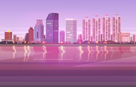 Vector illustration. Thailand. Travel around Bangkok. 版權商用圖片 - 76341920