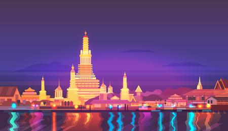 ベクトルの図。タイ。周辺を旅行します。  イラスト・ベクター素材