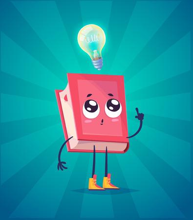 Set of book characters. Vector cute cartoons