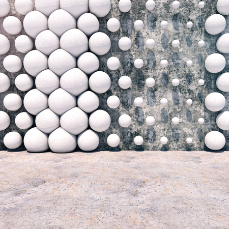 Abstract geometric background of the concrete. 3d photorealistic render.