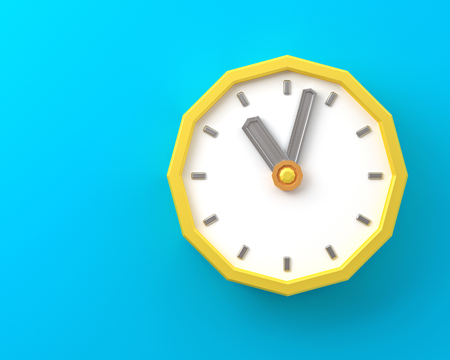 Retro alarm clock Old style 3d render 写真素材 - 102881779