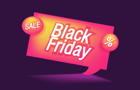 Black friday sale bubble or discount banner. Template for print or sale design