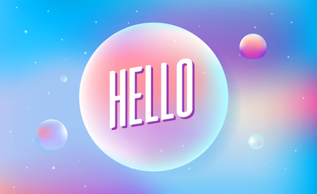 Colored bubbles with reflection set on background. vector illustration. Simple minimal phrase. Trendy geometric print.