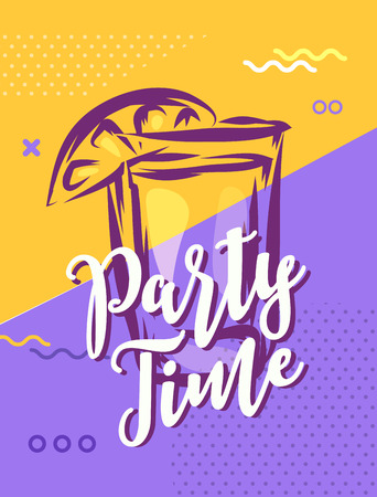 Party time with cool design. Vector stock illustration. Banque d'images - 116758954