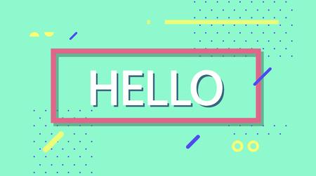 Dream on banner. Simple minimal typography phrase Ilustrace