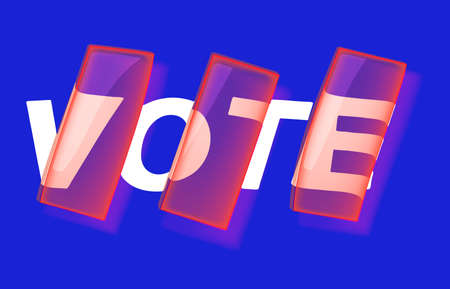 VOTE Banner, poster and sticker concept, with liquid text 向量圖像