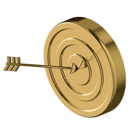TARGET 3D illustration in cartoon metal style not white background.