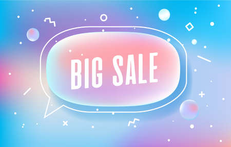 BIG SALE in design banner. vector template for web, print, presentation . Simple banner with minimal phrase. Trendy flat geometric print. Creative vector stock decoration. 向量圖像