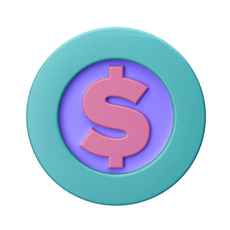 3D illustration. COIN in cartoon style not white background. Well suited for a landing page, mobile app, or website.