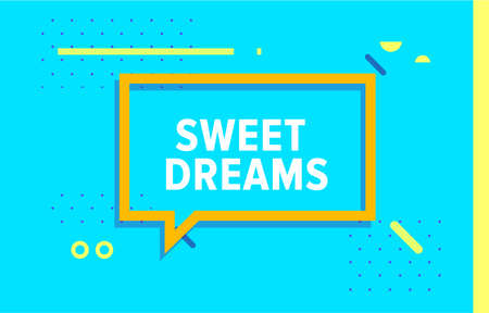 SWEET DREAMS in design banner. vector template for web, print, presentation . Simple banner with minimal phrase. Trendy flat geometric print. Creative vector stock decoration. 向量圖像
