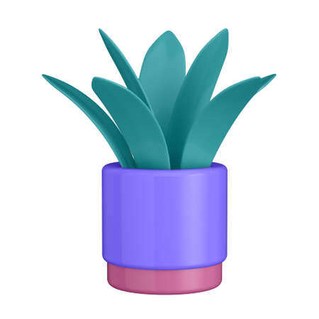 3d illustration. Flower in cartoon style not white background.