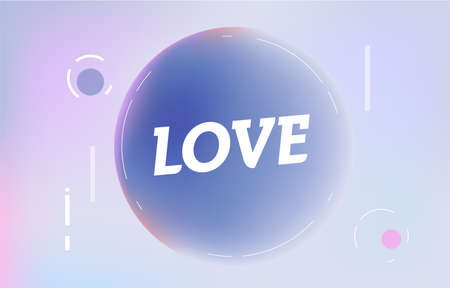 LOVE on in design banner. vector template for web, print, presentation