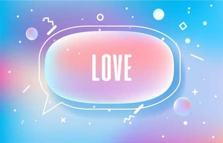 LOVE in design banner. vector template for web, print, presentation