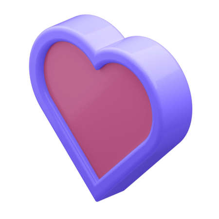 3d illustration. HEART in cartoon style not white background. Well suited for a landing page, mobile app, or website.