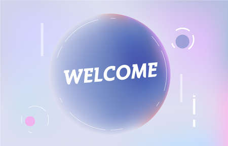 WELCOME on in design banner. vector template for web, print, presentation