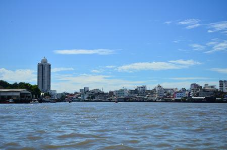rivulet: Chao phraya river in bangkok Stock Photo
