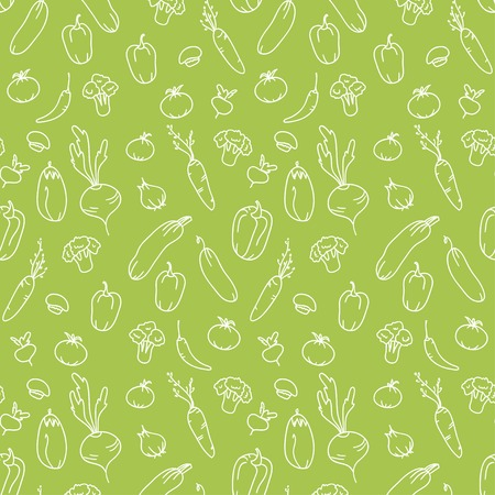 Seamless kitchen background of vegetables  Beautiful background  Vector illustration  Endless texture can be used for printing onto fabric and paper or scrap booking  向量圖像