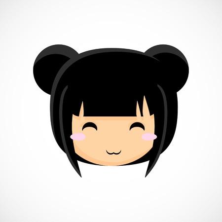 girl illustration: La cara de una ni�a Ilustraci�n lindo hermoso de fondo