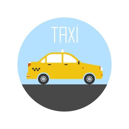 graphic taxi car flat design. Vector