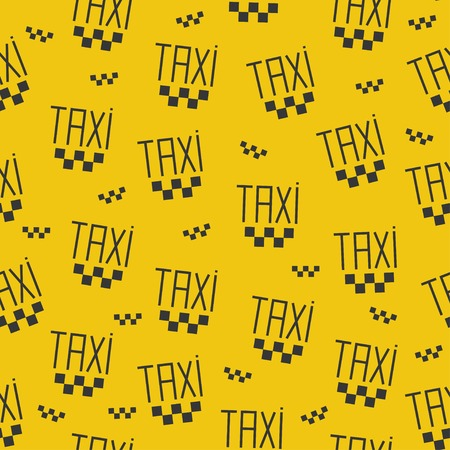 Seamless pattern of taxi sign. Vector