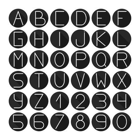 abstract scribble: Simple monochrome font. Complete abc alphabet set. Vector letters and numbers. Doodle typographic symbols.