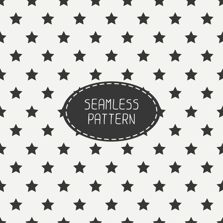 Vector seamless retro pattern, with vintage hipster star. For wallpaper, pattern fills, web page background, blog. Stylish texture.