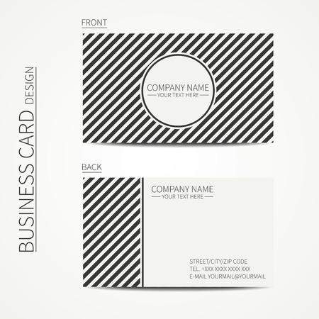 Vintage template simple carte de visite créatif avec rayures diagonales géométrique seamless pattern. Vector eps10 conception. Ligne seamless pattern. Banque d'images - 34139435