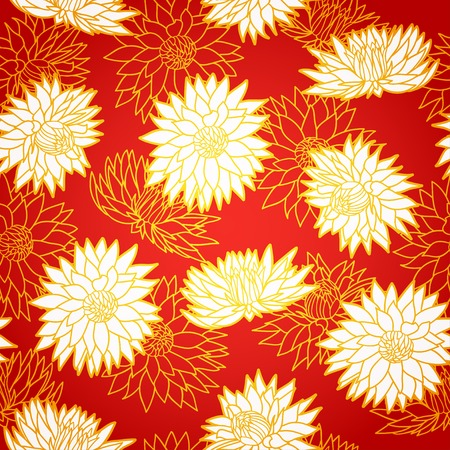 National chinese seamless pattern with chrysanthemum. Chinese new year 2015. Beautiful  vector illustration. Background. Vector