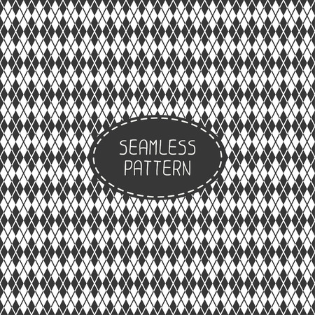 Geometric monochrome hipster line seamless pattern with rhombus, square. Paper for scrapbook. Tiling. Beautiful vector illustration. Background. Stylish graphic texture for your design, wallpaper, pattern fills. Stock Vector - 37686174