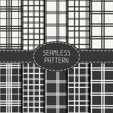 Set of  striped geometric hipster seamless linear pattern. Tiling. Collection of wrapping paper. Tiling. Beautiful line  vector illustration. Abstract background. Stylish graphic texture for your design, wallpaper, pattern fills.