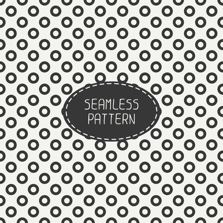 Geometric seamless polka dot pattern with circles. Wrapping paper. Paper for scrapbook. Tiling. Peas. Vector illustration. Background. Swatches. Stylish graphic texture  for design, wallpaper. Vector