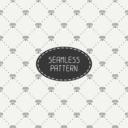 compendium: Monochrome hipster fashion geometric seamless pattern with diamond. Wrapping paper. Paper for scrapbook. Tiling. Vector illustration. Stylish graphic texture for design. Illustration