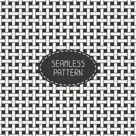 matted: Geometric seamless pattern with intertwined bands. Wrapping paper. Paper for scrapbook. Tiling. Beautiful vector illustration. Abstract background. Linear graphic texture for design. Interwoven. Illustration