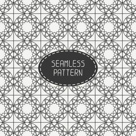 arabisch patroon: Geometrische zwart-wit rooster naadloos Arabisch patroon. Islamitische oosterse stijl. Inpakpapier. Plakboek papier. Tegelwerk. Wit vector illustratie. Marokkaanse achtergrond. Stalen. Grafische textuur.
